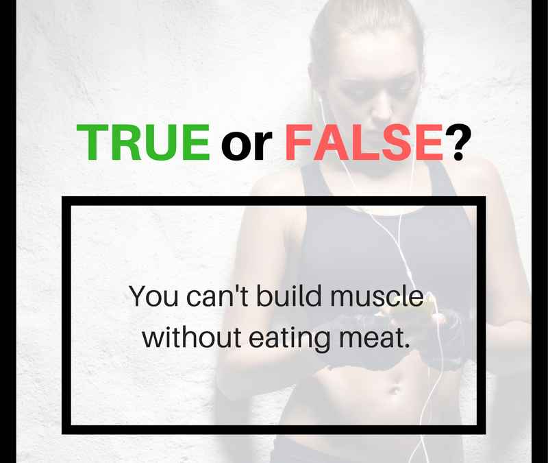 Can You Build Muscle Without Eating Meat? True Or False?